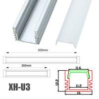 30cm 50cm XH-U3 U Style Aluminum Channel Holder For LED Strip Light Bar Lamp