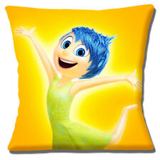 "New INSIDE OUT Disney Film Character JOY Yellow Blue 16"" Pillow Cushion Cover"