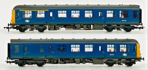 BACHMANN 00 GAUGE - 31-535 - CLASS 105 DMU BR BLUE YELLOW POWER TWIN WEATHERED