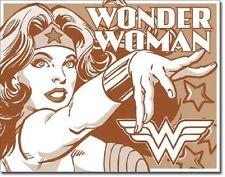 Wonder Woman Duotone Comic Super Hero DC Marvel Retro Decor Metal Tin Sign New