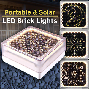 LED Solar Powered Ice Cube Brick Light Outdoor Garden Pathway | Premium Quality