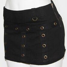 M LOLITA Boho Rockabilly Steam Punk Gypsy Gothic Goth Burlesque Ultra Mini Skirt