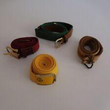 4 ceintures femme jaune rouge vert marron modèles vintage art déco XXe PN France