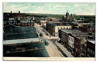 1908 Bird's-Eye View of Terre Haute, IN Postcard *6A11