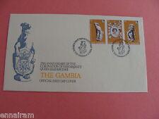 Queen Elizabeth II Silver Jubilee FDC 25th Coronation Gambia 1978 #1