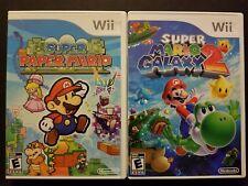 Super Paper Mario & Super Mario Galaxy 2 (Nintendo Wii, 2007 2010)