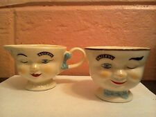 His&Hers Limited Edition China '96 Baileys Face Winking Yum Creamer & Sugar NWOB