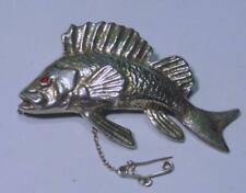 VINTAGE SILVER FISH BROOCH BY KENWOOD