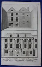 Original antique print CITY OF LONDON LYING-IN HOSPITAL, Cole, Maitland 1756