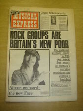 NME 1973 AUG 4 FACES ZAPPA MUNGO JERRY SLY STONE SLADE VAN MORRISON DAVID BOWIE