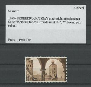 SWITZERLAND SPECIMEN 1950 ESSAY TRIAL TEST PRINT PROOF PRUEBA BRIGUE BRIG /m2111