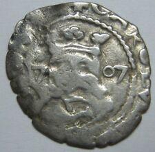 1707 REAL COB VALENCIA CHARLES III DIECIOCHENO RARE PIRATE SILVER COIN SPAIN