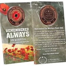 Remembered Always Western Front 1916 Commemorative  Penny Poppy * NEW 2016