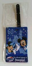 Disneyland Resort 60th Diamond Celebration Mickey Minnie Mouse Luggage Tag