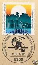 BRD 1992: Rettet den Regenwald! Nr. 1615 mit dem Bonner Sonderstempel! 1A 1811