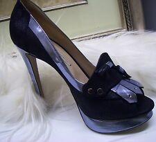 Nicholas Kirkwood Suede And Metallic Platform Loafer Pumps Shoes Size 40 $995