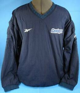 DALLAS COWBOYS Pullover Jacket (XL) REEBOK PRO LINE