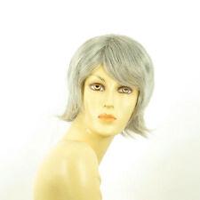 Perruque femme grise cheveux lisses ref  MARGOT 51