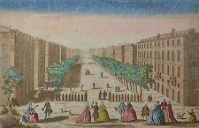 Vue d'optique XVIIIème - Vue du Cours de Marseille