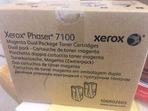 Genuine XEROX 106R02603 PHASER 7100 HIGH CAPACITY MAGENTA TONER BOX2 INCVAT.