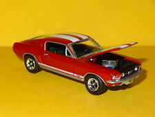1967 FORD MUSTANG GT FASTBACK RED 1/64 SCALE LIMITED EDITION REAL RUBBER PE