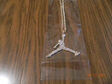 MIP-Large size- Iced out Air Jordan Gold Tone pendant matching 24inch 4mm chain