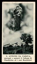 "santino-holy card""S.ANTONIO DA PADOVA-GIACCHERINO"