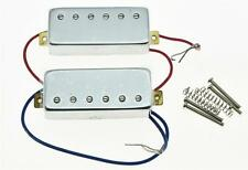 Chrome LP Guitar Mini Humbucker Neck & Bridge Pickup Set Pickups for Les Paul
