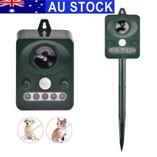 Solar Powered Ultrasonic Bird Animal Repellent Pest Repeller with LED Indicator