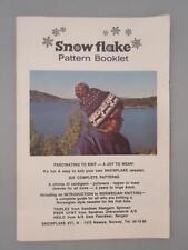 Vtg RARE Snowflake Pattern Book Sweater Hat Cardigan Norwegian Knitting Ski