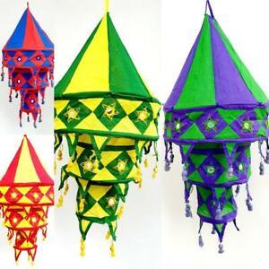 4 Pcs Wholesale Lot Collapsible Handmade Decorative Cotton Lampshade Lanterns