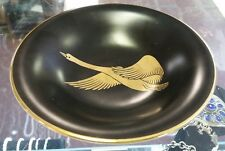 Rosenthal Selb Plossberg Germany Black and Gold on White Porcelain Compote Dish