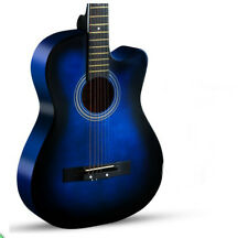 Navy Blue New High-Grade 38 inch Basswood Musical Instruments Acoustic Guitar #