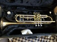 jupiter trumpet capital edition gold color in great shape.  Only used for 6 mon.