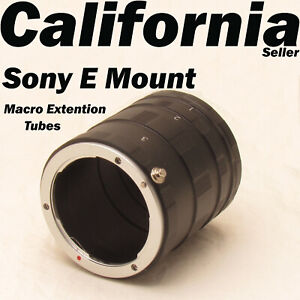 Macro Extension Tube Ring For Sony E Mount NEX Camera Lens A7 A7R S A5100 A6000