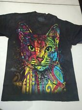 Abyssinian Cat Dean Russo Abstract Pop Art By The Mountain 100% Cotton Tshirt