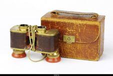 * Voigtlander Binoculars 3x Perkeo  Gold  With Brown Casse