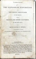 Narrative of the Exploring Expedition to Rocky Mountains in 1842 by Fremont 1845