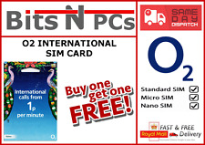 O2 PAY AS YOU GO INTERNATIONAL SIM CARD- BUY 1 GET 1 FREE