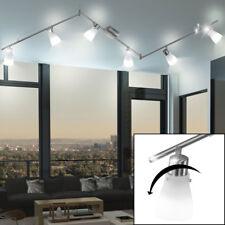 LED Decken Lampe Wohn Ess Schlaf Zimmer Balken Strahler Verstellbar Glas Spots
