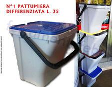 BIDONE PATTUMIERA RACCOLTA DIFFERENZIATA SPAZZATURA RIFIUTI ECO TOP L35
