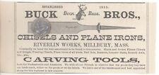 1879 BUCK BROS. RIVERLIN WORKS MILLBURY MASSACHUSETTS Knife Woodworking Tools AD