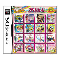 520 IN 1 NDS Games Game Cartridge Multicart For Nintendo DS NDSL NDSi 3DS 2DS XL