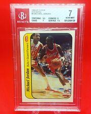 Michael Jordan 1986 86-87 Fleer Sticker Rookie RC #8 BGS 7 [6.5/8/7/7] 🐐 🏀