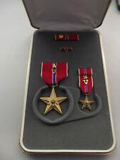 US Bronze Star Original im Etui aus Nachlass Marine Corps SSG Miller Gravur !!