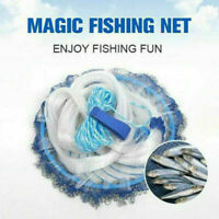 Magic Hand Cast Fishing Net Spin Network Easy Throw Bait Nylon Mesh 240300c C8D0