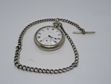 Silver Graduated Pocket Watch Chain A/F Vintage Eendragt Pocket Watch on Alro