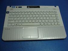 "Sony VAIO VPCEG37FM 14"" Genuine Palmrest w/Touchpad Keyboard Speakers 604MP10036"