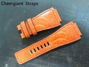 Bell & Ross ostrich strap hand made watch band Cheergiant straps B&R 鴕鳥皮手工錶帶訂製