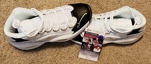Allen Iverson Autographed Philadelphia 76ers Reebox Question Sneakers JSA-W COA